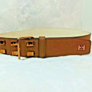 ESCADA Women's Waist Belt Light Brown Leather EE